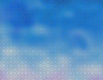 Blauw Beige behang Als achtergrond Royalty-vrije Stock Foto's