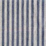 Blauw, beige, grijs streeppatroon op linnenstof Stock Foto's