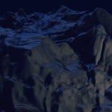 Blauw bergenlandschap Stock Foto's