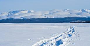 Blauw berglandschap royalty-vrije stock afbeeldingen