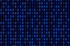 Blauw binair getal Royalty-vrije Stock Afbeelding