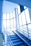 Blauw binnenland van de overgang Stock Afbeelding