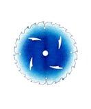 Blauw Blad op Wit Royalty-vrije Stock Foto's