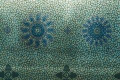 Blauw bloembehang Royalty-vrije Stock Foto
