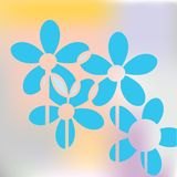 Blauw bloemconcept Stock Afbeelding
