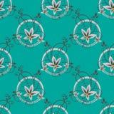 Blauw Bloemen Naadloos Patroon Royalty-vrije Stock Foto