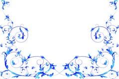 Blauw bloemenframe. Royalty-vrije Stock Foto's
