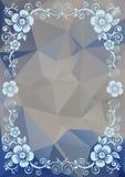 Blauw bloemenpatroon Royalty-vrije Stock Afbeeldingen