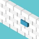 Blauw blok die duidelijk uitkomen vector illustratie