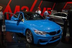 blauw BMW 3 reeksen royalty-vrije stock afbeeldingen
