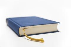 Blauw boek met lint Stock Foto