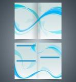 Blauw boekje, malplaatjeontwerp met golven stock illustratie