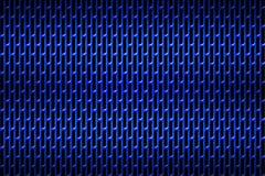 Blauw chroomtraliewerk De achtergrond van het metaal Royalty-vrije Stock Foto