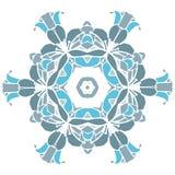 Blauw cirkelornament Royalty-vrije Stock Afbeeldingen