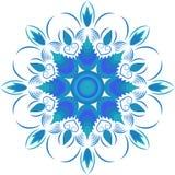 Blauw cirkelpatroon, Royalty-vrije Stock Afbeeldingen