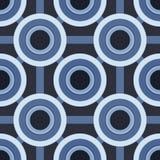 Blauw cirkelspatroon Stock Foto