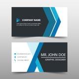 Blauw collectief adreskaartje, het malplaatje van de naamkaart, het horizontale eenvoudige schone malplaatje van het lay-outontwe Stock Foto