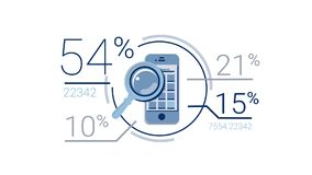 Blauw Collectief Infographic-Element met Alpha Channel royalty-vrije illustratie