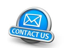 Blauw contacteer ons pictogram vector illustratie