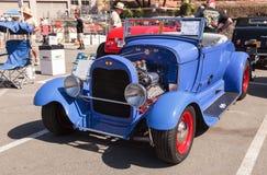 Blauw 1929 convertibel Ford a-V8 Stock Afbeeldingen