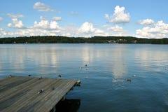 Blauw Czos-meer - de Meren van Mragowo - Masurian- Stock Foto's