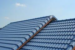 Blauw Dak Stock Fotografie