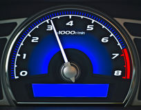 Blauw dashboard Royalty-vrije Stock Foto's