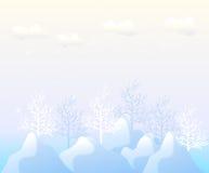 Blauw, de achtergrond van het Nieuwjaar met sneeuw. Royalty-vrije Stock Foto