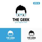 Blauw de het Embleem/het Pictogram Vectorontwerpzaken Logo Idea van Geek Stock Foto