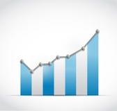 Blauw de illustratieontwerp kleuren van de bedrijfspuntgrafiek Stock Fotografie