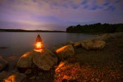 Blauw de Lentesmeer bij Nacht Royalty-vrije Stock Foto