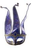 Blauw de maskerademasker van de Nar royalty-vrije stock afbeeldingen