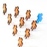 Blauw de mensenhoofd van het cijfersilhouet van werkzoekenden Royalty-vrije Stock Fotografie