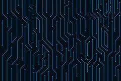 Blauw de technologie vector van de lijnkring abstract ontwerp als achtergrond voor bedrijfstechnologie Stock Afbeelding