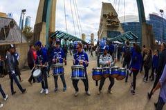 Blauw de Vlaamse gaaienspel van Rogers Centre @ Stock Foto's