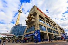 Blauw de Vlaamse gaaienspel van Rogers Centre @ Stock Fotografie