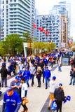 Blauw de Vlaamse gaaienspel van Rogers Centre @ Stock Afbeelding