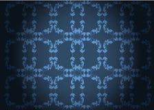 Blauw decoratief behang stock illustratie