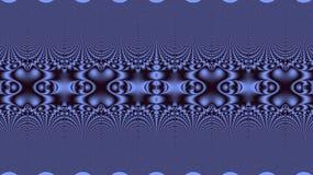 Blauw decoratieornament Fractal geometrisch patroon royalty-vrije illustratie