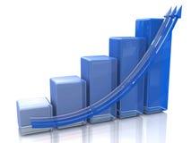 Blauw diagram Royalty-vrije Stock Foto's