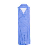 Blauw die overhemd op witte achtergrond wordt geïsoleerd Royalty-vrije Stock Fotografie
