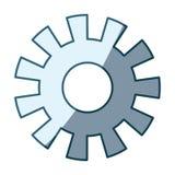 Blauw die silhouet van pignon in de schaduw stellen model  vector illustratie