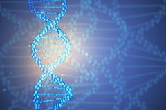 Blauw DNA-behang Royalty-vrije Illustratie