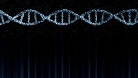 Blauw DNA-moleculemodel, ruimte voor tekst of grafiek De achtergrond van de Loopablemotie vector illustratie