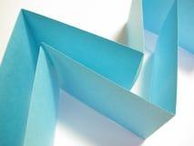 Blauw document Royalty-vrije Stock Afbeeldingen