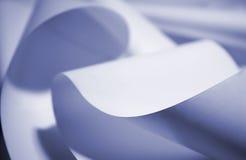 Blauw document Royalty-vrije Stock Afbeelding