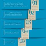 Blauw document genummerd banners Stock Foto's