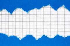 Blauw document kader met een geregeld document Royalty-vrije Stock Afbeeldingen