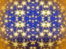Blauw document met geschilderde sterren royalty-vrije illustratie