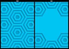 Blauw document patroon, abstract malplaatje als achtergrond voor website, banner, adreskaartje, uitnodiging, prentbriefkaar Stock Afbeelding